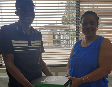 Prize hand over - Vaal Monthly Competition